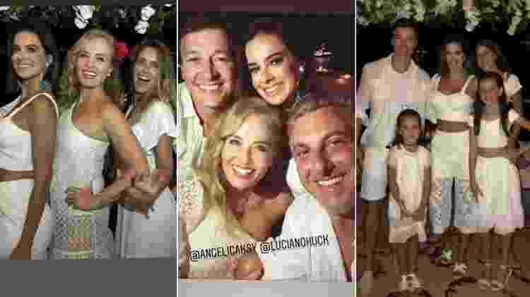 Luciano Huck e Angélica passaram a virada com Carolina Dieckmann e o casal Rodrigo Faro e Vera Viel - Reprodução/Instagram - Reprodução/Instagram