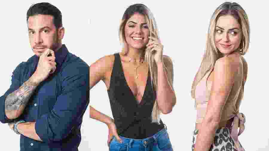 """Os três participantes que estão no segundo paredão do """"BBB19"""" - Montagem/Globo/Victor Pollak"""