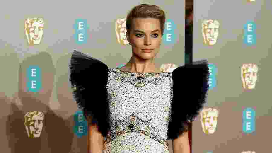 Margot Robbie no BAFTA 2019 - AFP