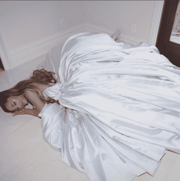 Ariana Grande posta foto com vestido que usaria no Grammy 2019 - Reprodução/Twitter