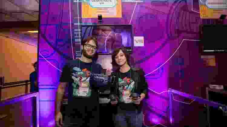 """BitCake Studios, do Rio, mostrou o jogo """"DeMagnete VR"""" no BIG 2019 - André Lucas/UOL"""