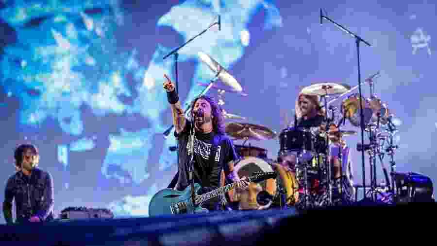 Foo Fighters durante apresentação no palco Mundo do Rock in Rio 2019 - Renan Olivetti/Divulgação
