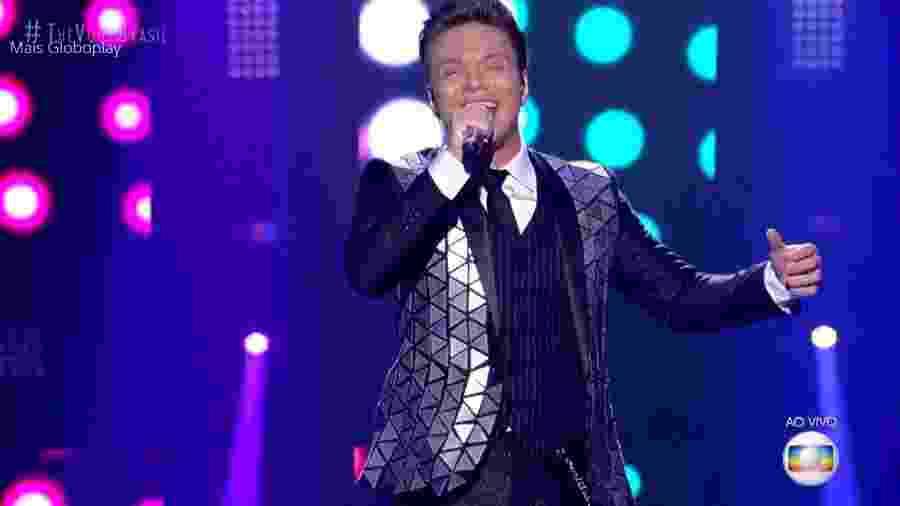 "Michel Teló cantou durante o ""The Voice Brasil"" - Reprodução/TV Globo"