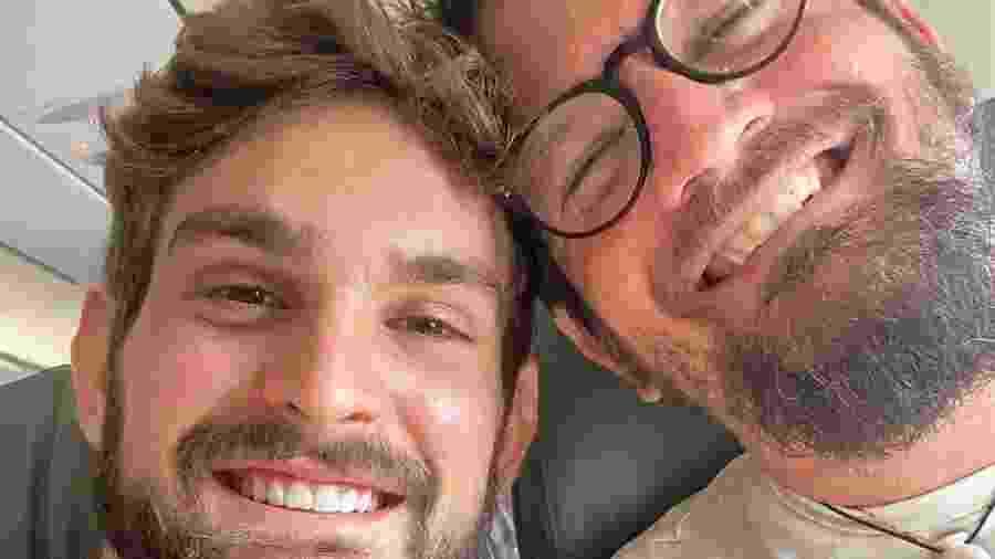 Saulo e o filho João Lucas: muito parecidos - Reprodução/ Instagram