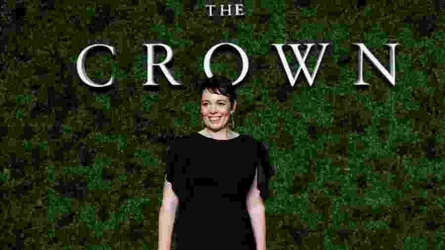 Atriz Olivia Colman durante evento da série The Crown - Peter Nicholls/Reuters