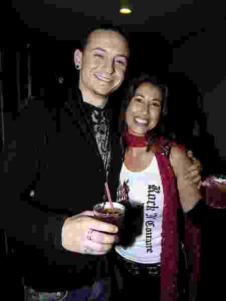 Chester Bennington com a primeira mulher, Samantha, em 2004 - FilmMagic, Inc