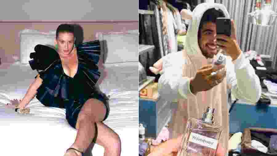 Marina Ruy Barbosa e Caio Castro participaram de evento de lançamento online de uma nova fragrância da Yves Saint Laurent - Reprodução/Instagram