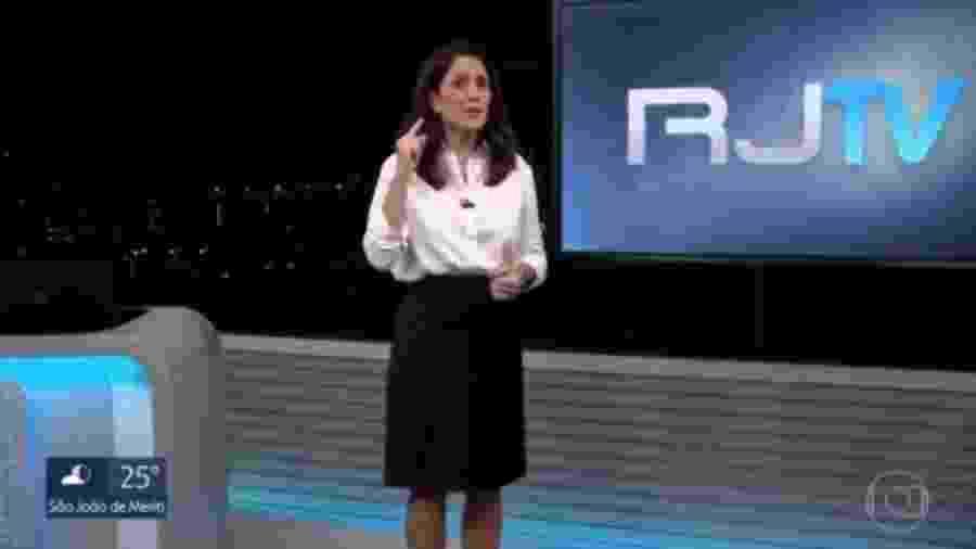 Ana Luiza Guimarães se confunde e encerra RJ2 antes do horário - Reprodução/TV Globo