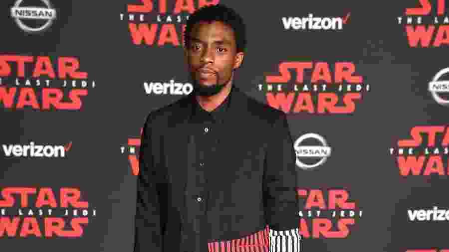 Chadwick durante o lançamento de Star Wars em Los Angeles, em 2017 - Kevin Mazur/WireImage/Getty Images