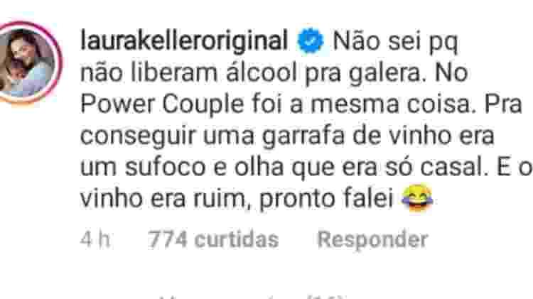 Laura Keller critica 'A Fazenda' e 'Power Couple' - Reprodução/Instagram - Reprodução/Instagram