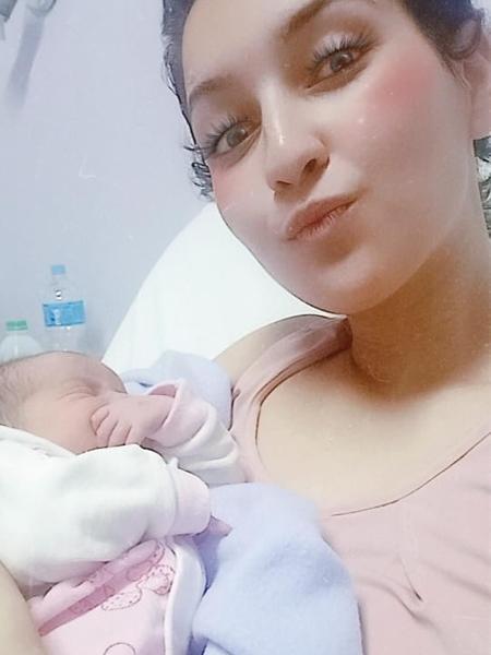 Nathaly Lopes, 19 anos, só soube da gestação após ser hospitalizada - Acervo pessoal