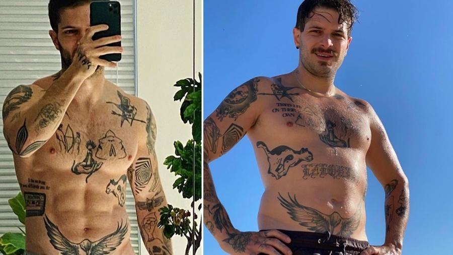 Federico Devito mostra corpo antes e depois de quarentena - Reprodução/Instagram