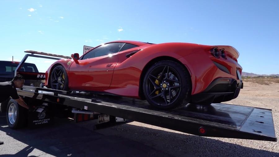 Ferrari F8 Tributo destruída em Las Vegas - Reprodução
