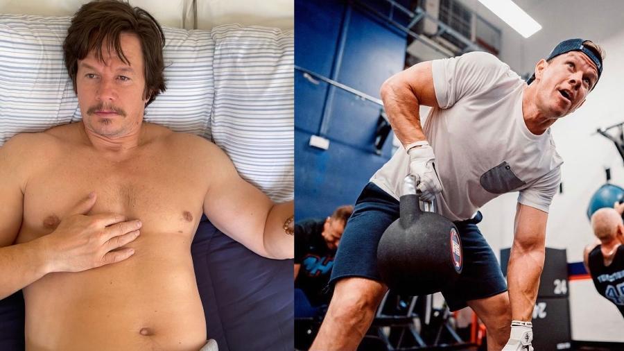 Antes e depois de Mark Wahlberg - Instagram/@markwahlberg/@f45_training_centralburbank