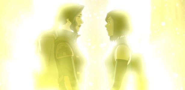 """Cena de """"Avatar: A Lenda de Korra"""" sugere romance entre Korra e Asami"""