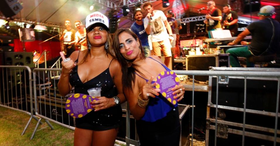 As foliãs Carla Leite e Daniela Lima no CarnaUOL RJ