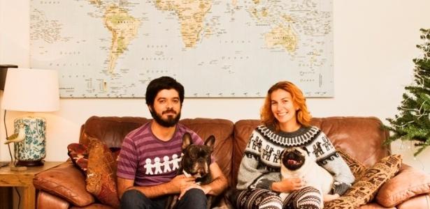 Hospedados de graça na capital neozelandesa, Larissa e Carlos cuidaram de cães - Arquivo Pessoal