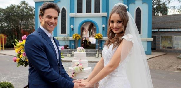 """Pedro e Helena se casam em """"Cúmplices de Um Resgate"""" - Lourival Ribeiro/SBT"""