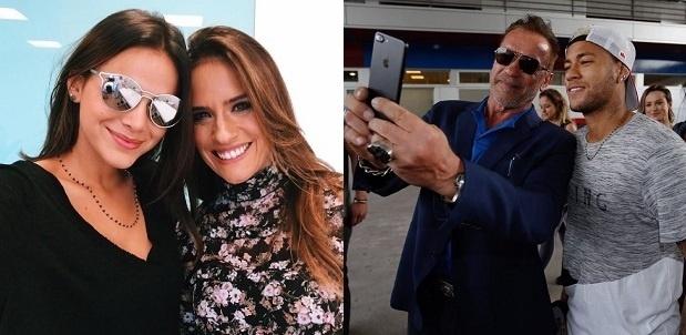 Bruna Marquezine e Neymar publicaram fotos usando o mesmo colar: para os fãs, é sinal de que o ex-casal está junto novamente