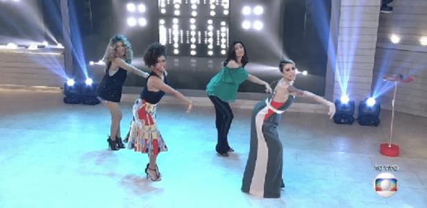 """Fátima Bernardes dança """"Say My Name"""", clássico do grupo Destiny""""s Child - Reprodução/TV Globo"""
