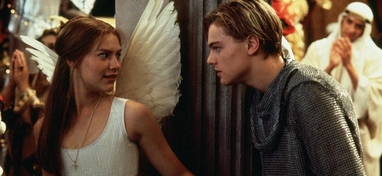 """Claire Danes e Leonardo DiCaprio em """"Romeu + Julieta"""" - Reprodução"""
