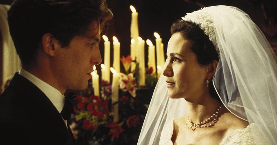 Cena do filme ?Quatro Casamentos e um Funeral? (1994), de Mike Newell
