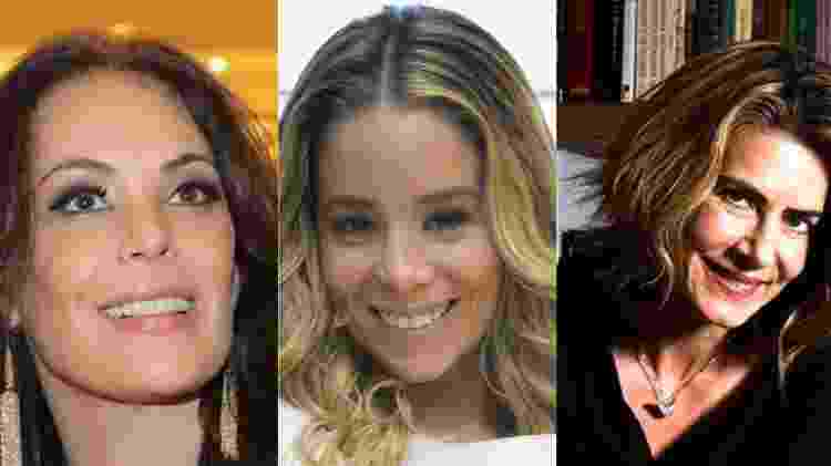 Recentemente, Carolina Ferraz, Daniele Winits e Maitê Proença perderam seus contratos longos com a Globo - Reprodução/Montagem UOL - Reprodução/Montagem UOL