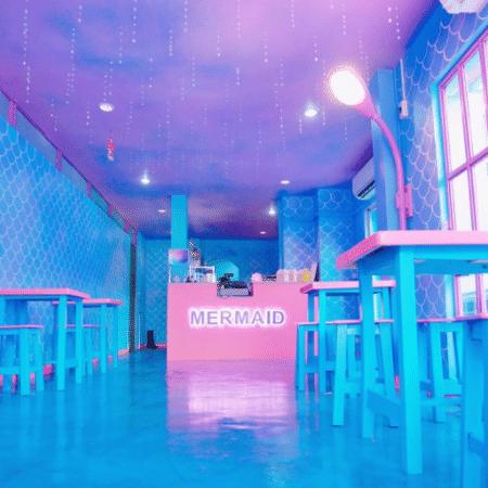 Café inspirado por sereias na Tailândia - Reprodução/Instagram
