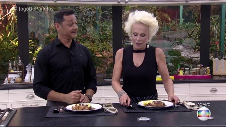 """Ana Maria se recusa a provar prato com molho de laranja de participante do """"Jogo das Panelas"""" - Reprodução/Globo"""