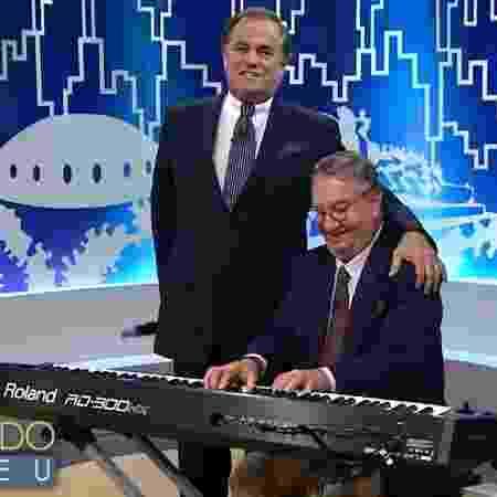 """Ronnie Von e Caçulinha durante gravação do """"Todo Seu"""" - Reprodução"""