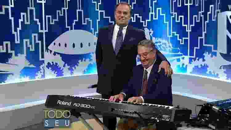 """Ronnie Von e Caçulinha durante gravação do """"Todo Seu"""" - Reprodução - Reprodução"""