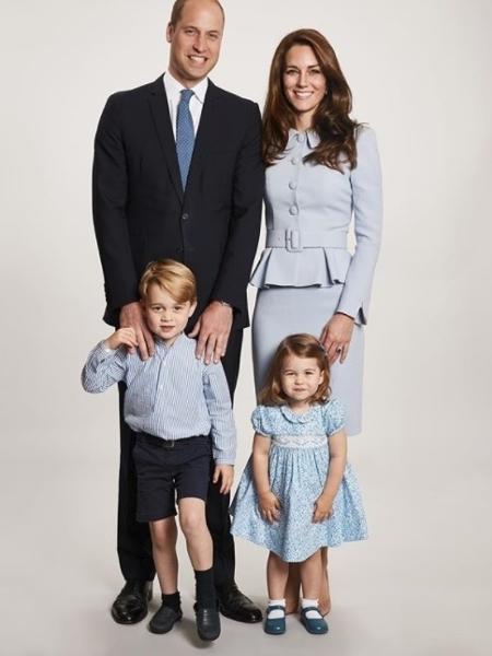 William e Kate Middleton com os filhos - Reprodução/Instagram