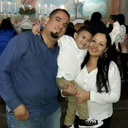 Ana Cristina, o marido, Douglas, e o filho deles, Willian - Arquivo Pessoal