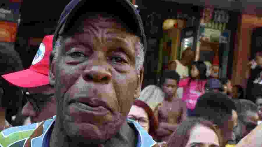 O ator americano Danny Glover na favela da Rocinha - AgNews