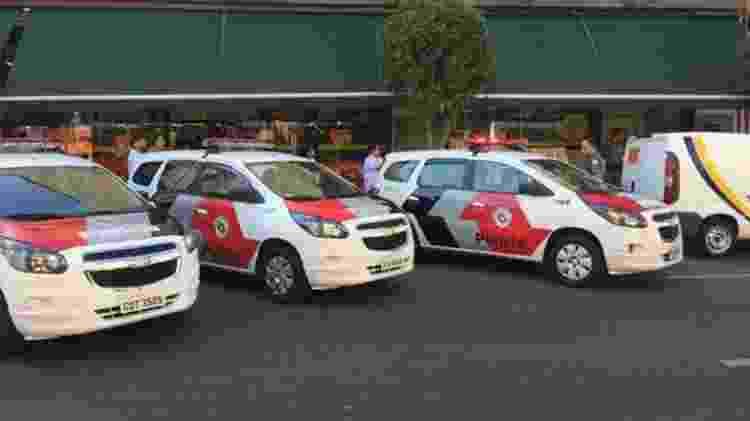 A Polícia Militar enviou quatro carros para ocorrência envolvendo Monica e sua filha bebê - Leandro Machado/BBC News Brasil - Leandro Machado/BBC News Brasil