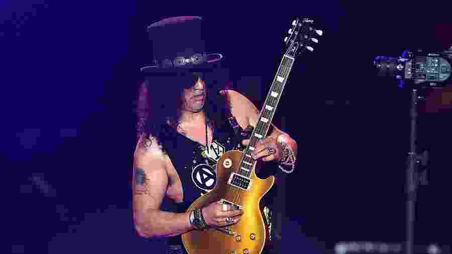 "O guitarrista Slash, do Guns N"" Roses - Kevin Winter/Getty Images"