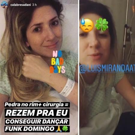 Dani Calabresa no hospital  - Reprodução/Instagram