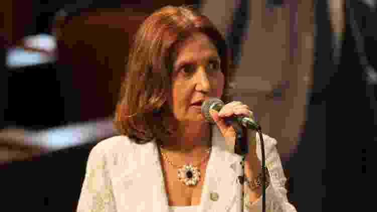 Delegada Martha Rocha, em discurso na Assembleia Legislativa fluminense; A oficial vai cumprir o segundo mandato como deputada estadual - Reprodução - Reprodução