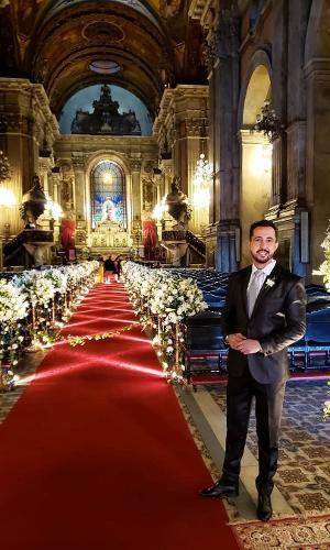 Jornalista Thiago Rocha, amigo de Nicole, postou imagem de Candelária decorada para casamento
