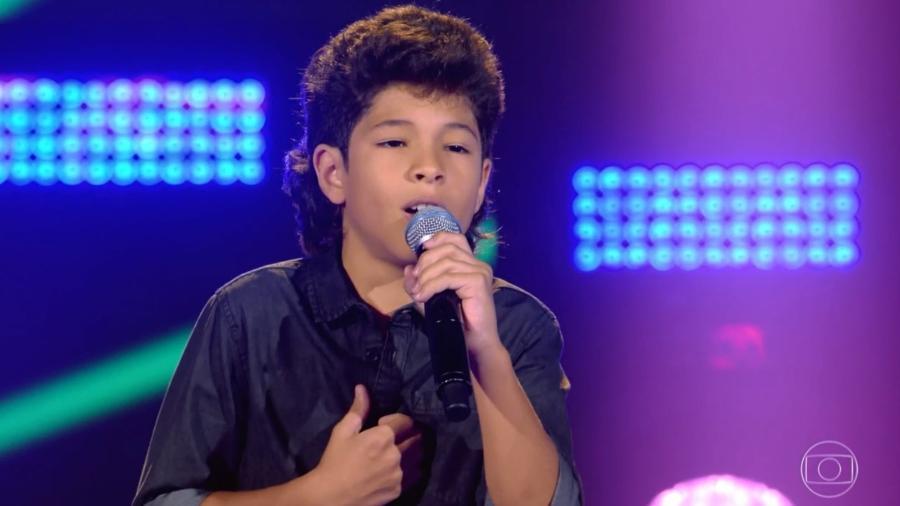 """Alex Novais, 11, de Campinas, participou do """"The Voice Kids"""" - Reprodução/TV Globo"""