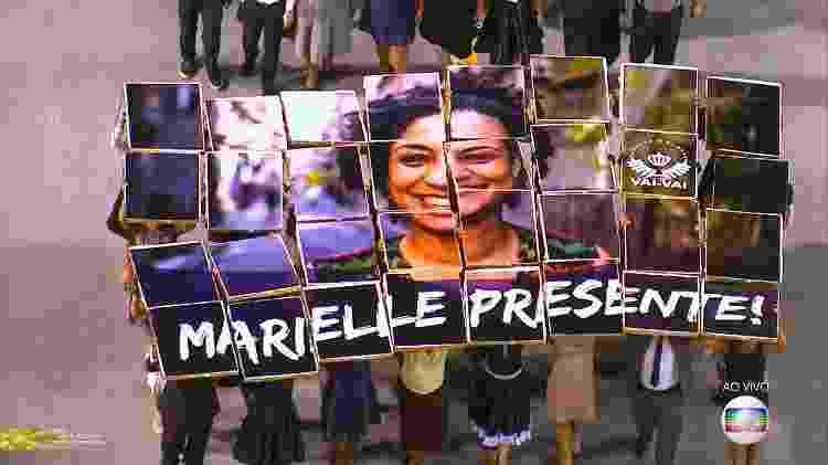 Marielle presente no desfile da Vai Vai - Reprodução/Twitter - Reprodução/Twitter