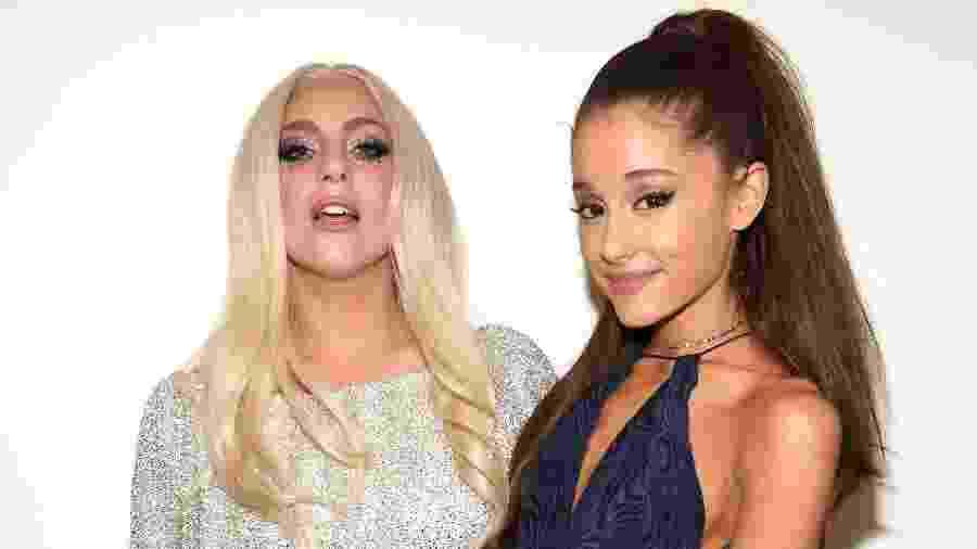 10.02.2015 - Lady Gaga e Ariana Grande em tributo a Stevie Wonder em Los Angeles (EUA) - Kevin Mazur/WireImage