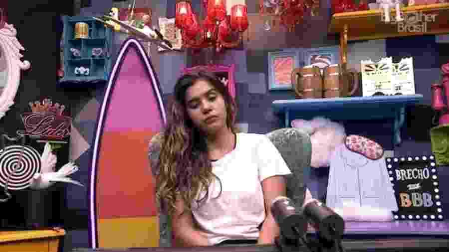 Sonolenta, Gizelly relembra brincadeira de Tiago Leifert no programa ao vivo - Reprodução/Globoplay