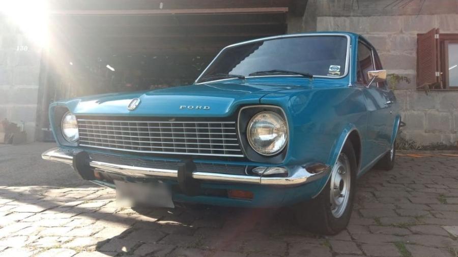 Fotos do Corcel azul 1976 surgiram nas redes após a repercussão do vídeo; amigo do proprietário confirma que elas são reais - Reprodução