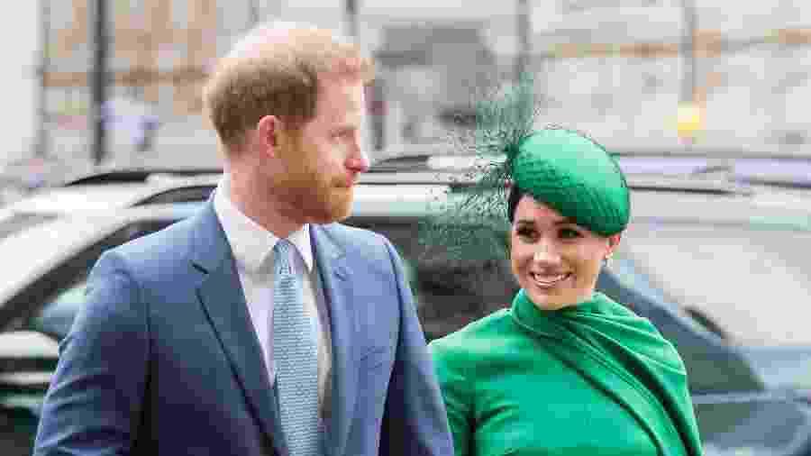 9.mar.2020 - Príncipe Harry e Meghan Markle em Londres - Samir Hussein / WireImage