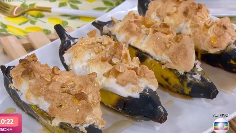 Bananas recheadas feitas por Ana Maria Braga - Reprodução/TV Globo