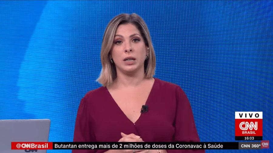 """Daniela Lima apresentando o """"CNN 360º"""" - Reprodução/CNN Brasil"""