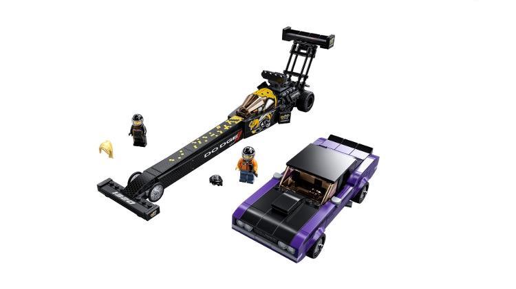 Conjunto da Lego traz um dragster e um Dodge Challenger clássico; boneca loira é inspirada em Pruett - Divulgação - Divulgação