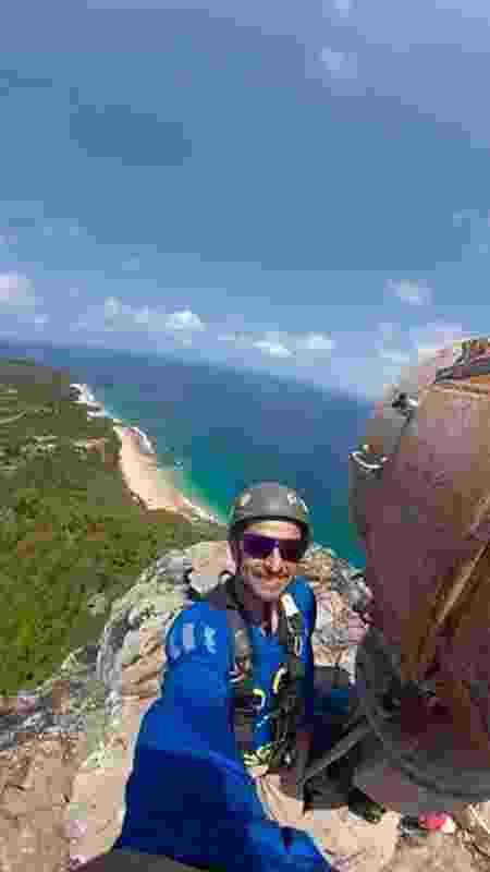 O escalador industrial Júlio Castelliano - Arquivo pessoal - Arquivo pessoal