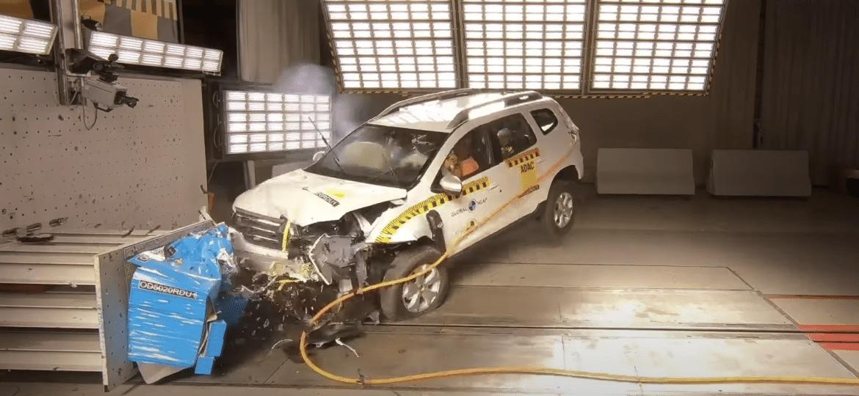 Critérios mais rígidos do Latin NCAP rebaixaram para zero a nota do Duster; carro idêntico foi avaliado em 2019 pelo instituto independente e ficou com 4 estrelas para adultos - Reprodução/Latin NCAP